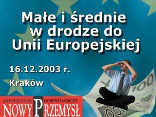 Europejski Fundusz Społeczny dla małych i średnich przedsiębiorstw Joanna Zembaczyńska