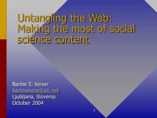 Untangling the Web: Making the most of social science content