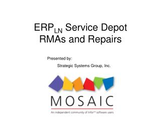 ERP LN  Service Depot  RMAs and Repairs