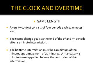 THE CLOCK AND OVERTIME