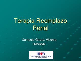 Terapia Reemplazo Renal