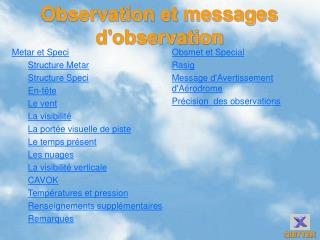 Observation et messages d'observation
