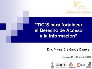 """""""TIC´S para fortalecer el Derecho de Acceso a la Información"""""""