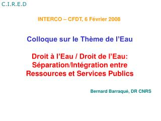 INTERCO – CFDT, 6 Février 2008