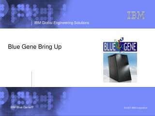 Blue Gene Bring Up