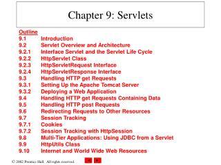 Chapter 9: Servlets