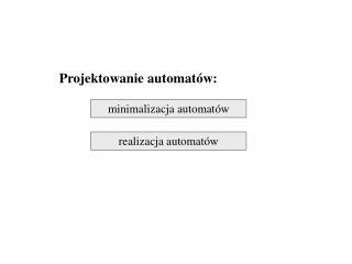 Projektowanie automat�w: