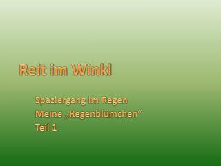 Reit im  Winkl
