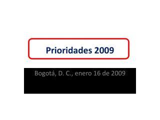 Prioridades 2009