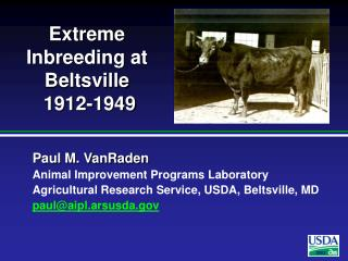 Extreme Inbreeding at Beltsville  1912-1949