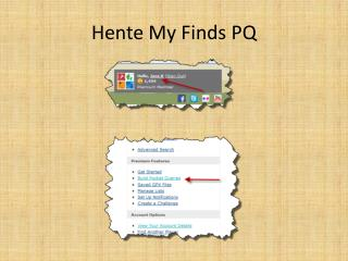 Hente My  Finds  PQ