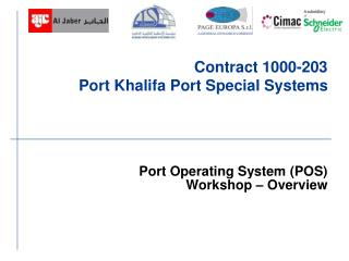 Contract 1000-203  Port Khalifa Port Special Systems
