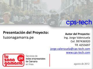 Presentación del Proyecto: tuzonagamarra.pe
