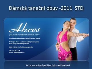 Dámská taneční obuv -2011  STD