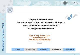 Prof. Dr.-Ing. Peter Göhner Barbara Burr, M.A. Prof. Dr.-Ing. Rainer Helmig 16.09.2004