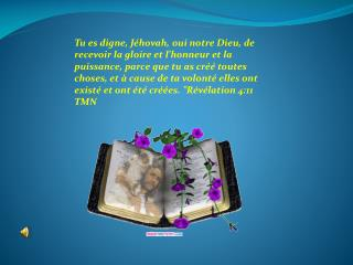Il y a Quelqu'un qui habite au-dessus du cercle de la terre,  Isaie  39:22 TMN