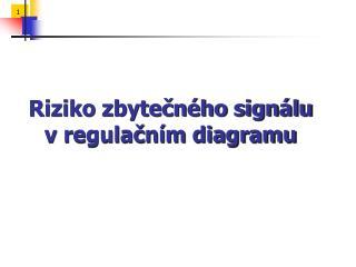 Riziko zbytečného signálu v regulačním diagramu