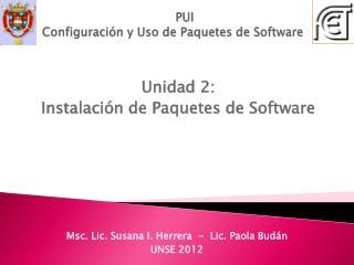 PUI Configuraci�n y Uso de Paquetes de Software
