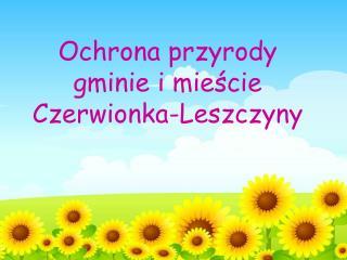 Ochrona przyrody gminie i mieście Czerwionka-Leszczyny