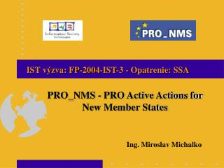 PRO_NMS - PRO Active Actions for New Member States