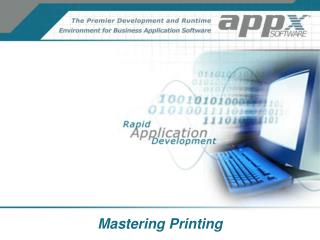 Mastering Printing