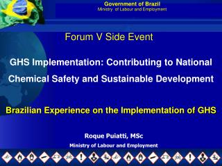 Government of Brazil Ministry  of Labour and Employment