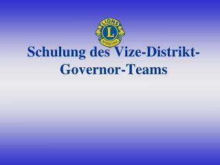 Schulung des Vize-Distrikt-Governor-Teams