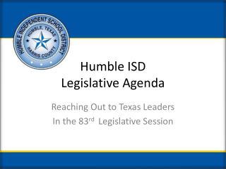 Humble ISD Legislative Agenda