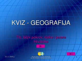 KVIZ - GEOGRAFIJA