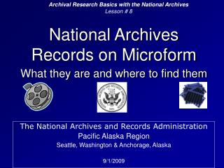 National Archives Records on Microform