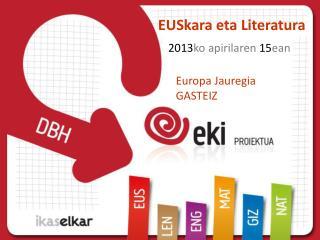 EUSkara  eta Literatura