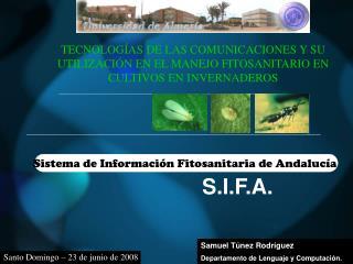Sistema de Información Fitosanitaria de Andalucía