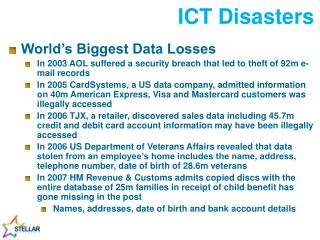 ICT Disasters