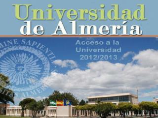 Jornadas Informativas sobre Acceso y Admisión  a la Universidad