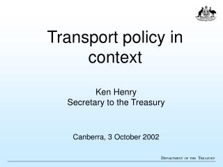 Transport policy in context
