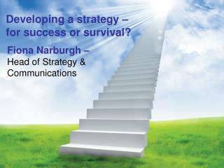 Developing a strategy –  for success or survival?