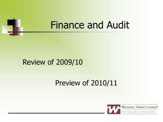 Finance and Audit