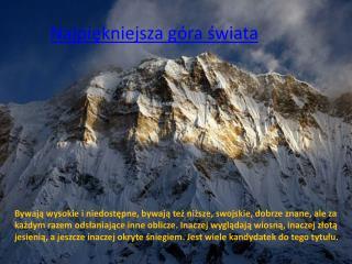 Najpiękniejsza góra świata