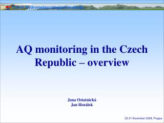AQ monitoring in the Czech Republic – overview