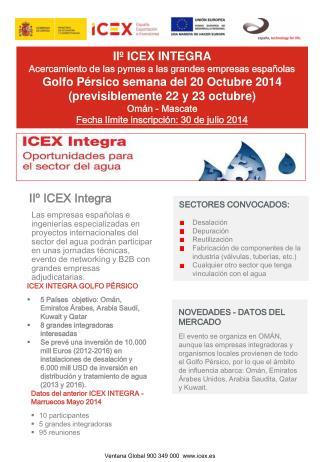 IIº  ICEX INTEGRA Acercamiento de las pymes a las grandes empresas españolas