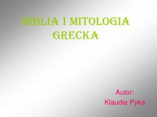 Biblia i mitologia grecka