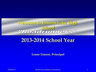 Welcome to Folsom Lake High School