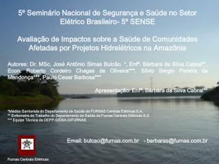 5º Seminário Nacional de Segurança e Saúde no Setor Elétrico Brasileiro- 5º SENSE