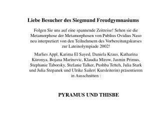 Liebe Besucher des Siegmund Freudgymnasiums