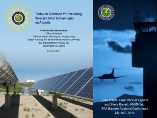 Federal Aviation Administration Office of Airports Office of Airport Planning and Programming Airport Planning and Envir
