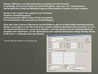 Beispiel: Bedieneroberfläche zur Programmierung