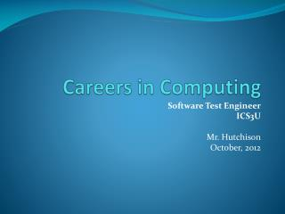 Careers in Computing