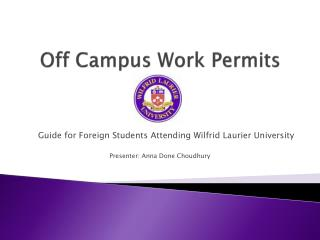 Off Campus Work Permits