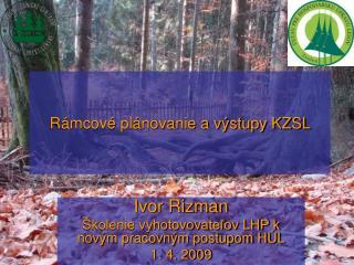 Rámcové plánovanie a výstupy KZSL