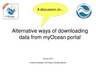 Alternative ways of downloading data from  myOcean  portal